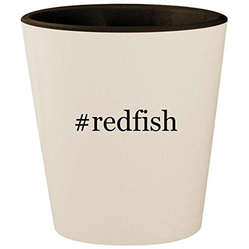 Price comparison product image #redfish - Hashtag White Outer & Black Inner Ceramic 1.5oz Shot Glass