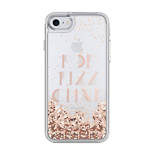 Discount Designer Clothing Handbags Shoes - kate spade new york Liquid Glitter Case for iPhone 8 - also compatible with iPhone 7 - Pop Fizz Clink Rose Gold / Clear