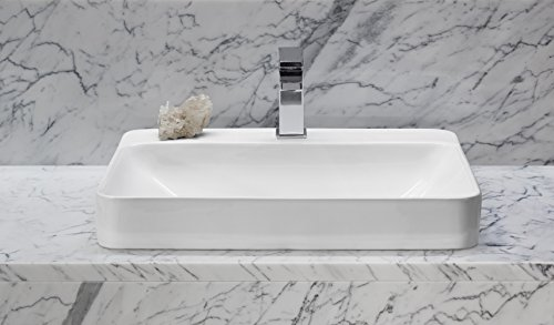Kohler K-2660-1-0 Vox Rectangle Vessel with Faucet Deck ...
