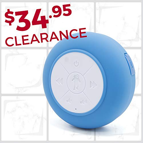 Splash Tunes Pro Shower Speaker - Ultimate Shower Speaker That is Portable, Hands Free, Wireless, Water Resistant, with Built-in Mic and Suction Cup (Royal Blue) (Finding The Best Waterproof Shower Radio)