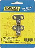 Seachoice Utility Hooks Stainless Steel 1-1/4 In. X 1-1/4 In. 2 / Card