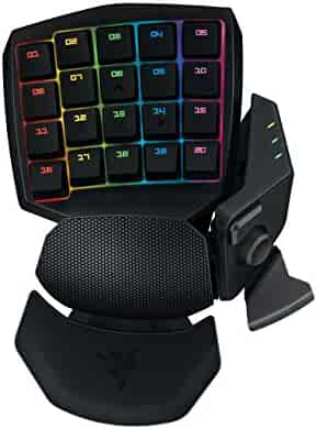 Razer Orbweaver Chroma - Elite RGB Mechanical Switches Gaming Keypad - Adjustable Hand, Thumb and Palm-Rest