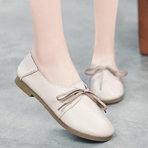 de Beige de planos mujer Color HWF las boca Zapatos baja Zapatos Tamaño Beige Cabeza redonda femenino 40 Beige retro mujeres planos la Arte Primavera para Zapatos 1cqqPnXB