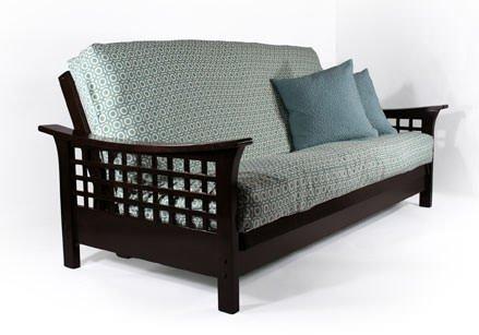Strata Furniture Trelli Black Walnut Full Wall Hugger Futon Frame (KD) by Strata Furniture