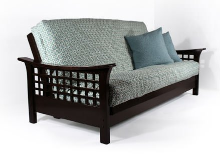 (Strata Furniture Trelli Black Walnut Full Wall Hugger Futon Frame (KD))