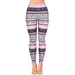 Jescakoo Women's Aztec Stripe Elephant Yoga Pants