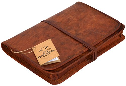 "Gusti Leder nature ""Chuck"" Laptoptasche 10,1"" Notebooktasche Netbooktasche iPad PC Büro DIN A5 Format Collegetasche Universität Elegant Unisex Neu Braun L9"