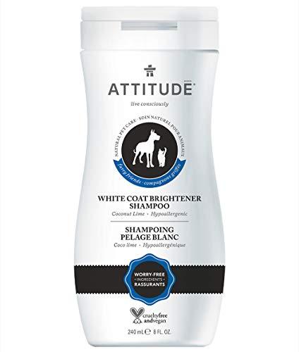 Attitude Cat - ATTITUDE Furry Friends, Natural Hypoallergenic White Coat Brightener Shampoo, Coco Lime, 240 mL (8 FL. OZ.)