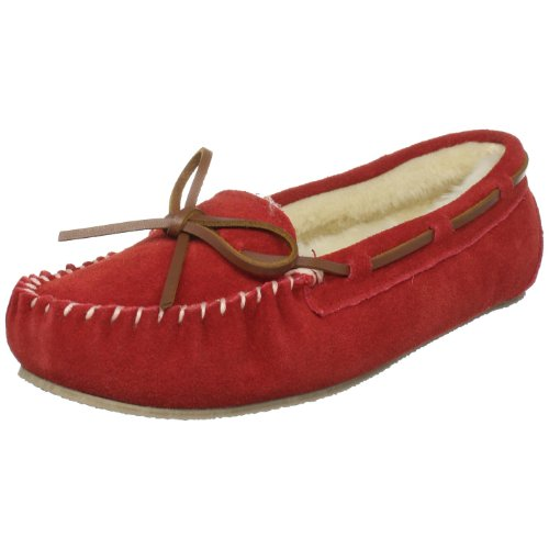 Tamarac by Slippers International 955205 Women's Molly Pile-Lined Moccasin,Red,7 M -