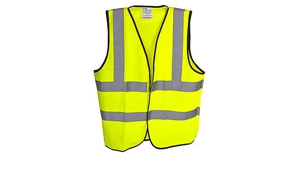 Hi-Vis Viz Waistcoat Vest Class 2 M 100-108cm Safety Jacket Fluorescent SIL274