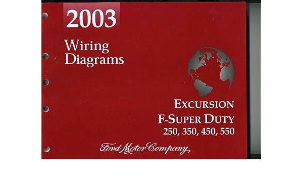 2004 ford excursion, f-super duty 250, 350, 450, 550 wiring diagrams: ford  motor company: amazon com: books