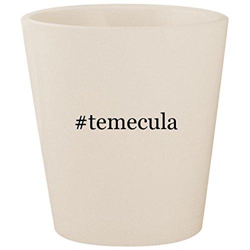 #temecula - White Hashtag Ceramic 1.5oz Shot Glass -