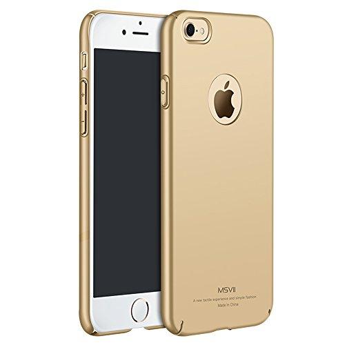 Gold PC Kunststoff Hülle Schutzhülle Case Und Displayschutzfolie für Apple iPhone 7 MSVII® JY00002
