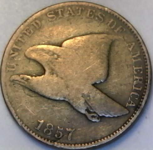 - 1857 P Flying Eagle Nickel VG Very Good Details