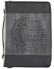Bible Cover: Be Strong(Gray/LG)