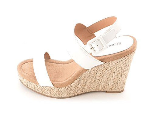 Style & Co. - Sandalias de vestir para mujer blanco