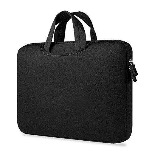 Maletín Para Ordenador Portátil Funda Protectora Maletín Bolso Para Macbook Laptop Black