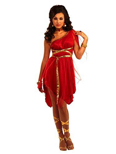 (Forum Novelties Roman Goddess Costume, Red, One Size)