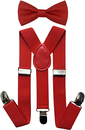 (CD Kids, Toddlers Suspender and Bow Tie Set, Adjustable Set and Colors for Boys and Girls)