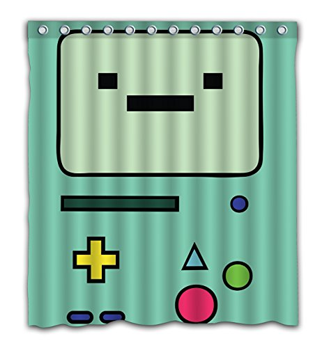 NECCI Adventure Time Waterproof Shower Curtain Bath Mildew Resistant Polyester Fabric Curtains 66x72 Inch On Sale