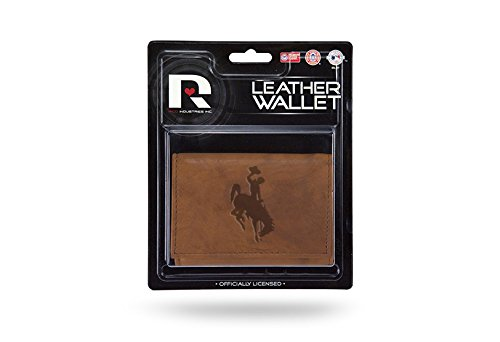 Rico NCAA Wyoming Cowboys Leather Trifold Wallet with Man Made Interior by Rico