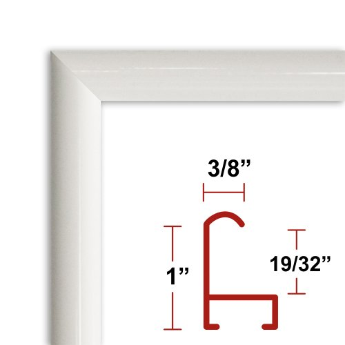 Amazoncom 27 X 35 Poster Frame Profile 15 White Custom Size