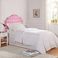 Better Homes and Gardens Trellis Upholstered Headboard, Twin, Irongate Pink