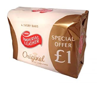 Amazon.com : Imperial Leather Original Soap England 4 Pack, 400 ...