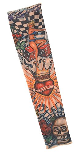 Tattoo Sleeve- King of Hearts - King Of Hearts Costume Accessories