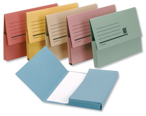 5 Star Premier Document Wallet Half Flap 285gsm Capacity 32mm A4 Assorted (Pack of 50) Spicers Ltd 913926