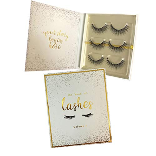 The Book of Lashes: Volume 1 - Reusable False Eyelashes - Cruelty Free - 3 Pairs