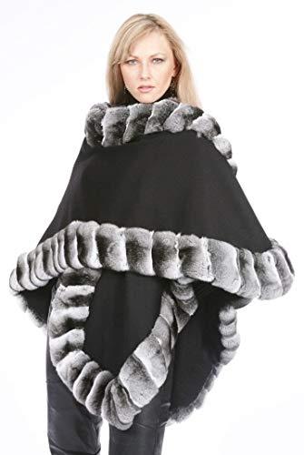 Black Loro Piana Cashmere Natural Chinchilla Cape ()