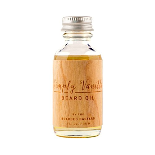 Simply Vanilla Beard Oil 1 Ounce Bottle, Natural Jojoba,Grapeseed and Argan Oils, Moisturizes, Great Smelling Beard Oil