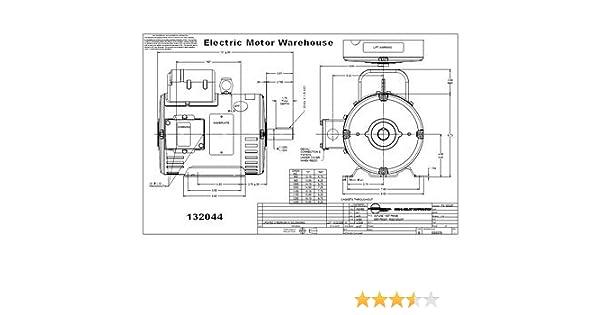Leeson 7.5HP 1PH 3450RPM 184T Frame Drip-Proof 208-230V 60HZ (132044 on baldor capacitor wiring, baldor grinder wiring-diagram, teco switch wiring diagram, baldor reliance industrial motor diagram, vfd control wiring diagram, baldor capacitor schematic, baldor motor parts diagram, ingersoll rand air compressor wiring diagram, baldor elect diagram,