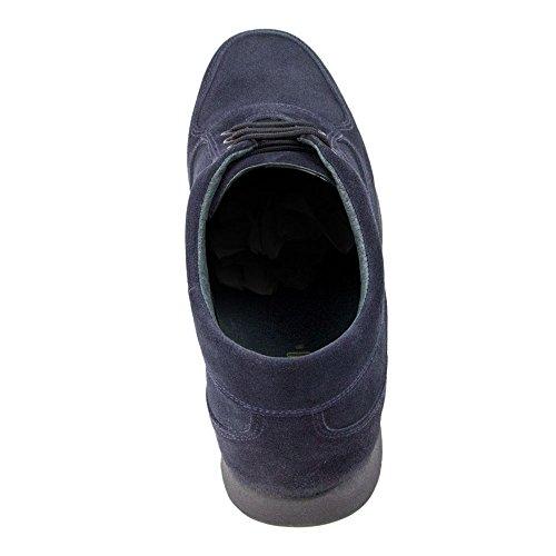 Masaltos Scarpe Da Uomo Che Aumentano In Modo Invisibile Le Dimensioni Del Corpo Fino A 7 Cm. Scarpe Da Uomo Con Tacco Nascosto. Modello Matera Blu