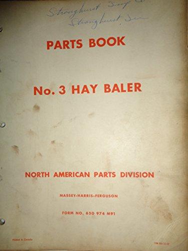 Massey Ferguson MF 3 Hay Baler Parts Catalog Book Manual 11/57