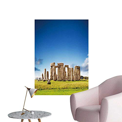 SeptSonne Wall Stickers for Living Room Stonehenge ENGL UK Vinyl Wall Stickers Print,32