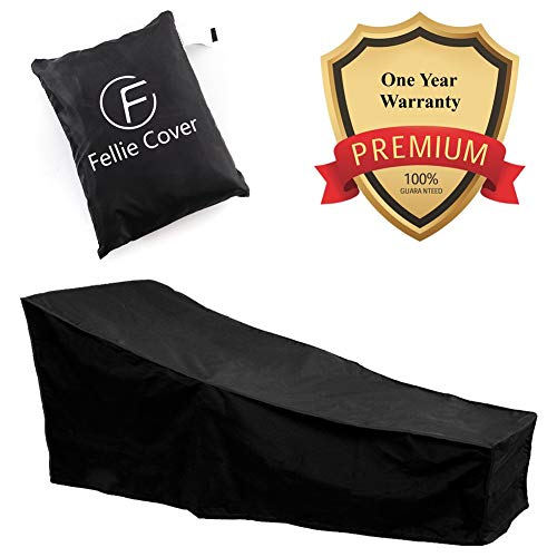 (82-inch Waterproof Patio Chaise Lounge Cover Durable Outdoor Lounge Chair Cover, Fading Resistant)