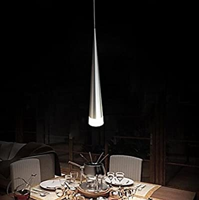 UNITARY BRAND Modern LED Transparent Metal Shade Acrylic Pendant Light Max 5W Plating Finish