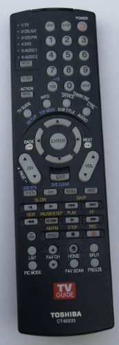 Toshiba Remotes for DVD-VCR-TV-Audio-Stereo and or Compact D