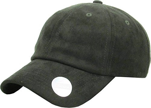 KBE-SUE-Classic OLV 6 Panel Suede Dad Hat Baseball Classic Adjustable Soft Plain Cap ()
