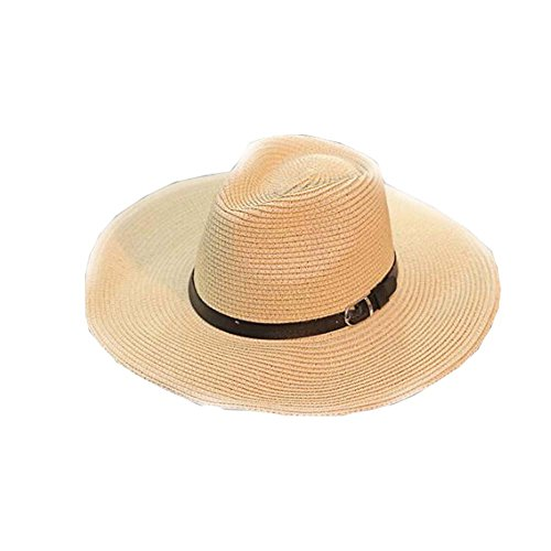(DRAGON SONIC Men's Hats Beach Hat Foldable Straw Hat Cowboy Breathable Hat)