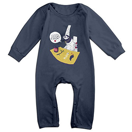 [Raymond Sloth Cooking Long Sleeve Baby Climbing Clothes Navy 18 Months] (Pi Day Costume Ideas)