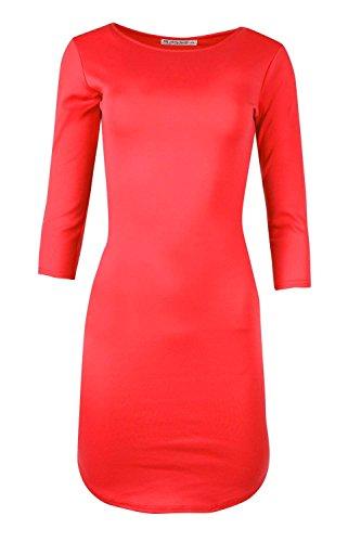 Be Jealous - Robe moulante manche 3/4 pour femmes - 48/50, Rouge