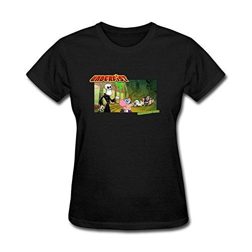 XIULUAN Women's Underfist Halloween Bash Cartoon T-shirt Size XXL ColorName Short Sleeve]()