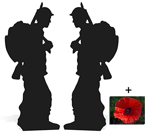 BundleZ-4-FanZ by Starstills Fan Pack - World War Soldier Silhouette Double Pack Lifesize Cardboard Cutout Set - Includes 20cm x 25cm Star Photo