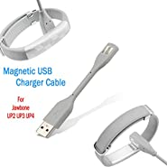 Replacement Charging Cable for Jawbone UP2 UP3 UP4 Wristband, JIMAT Premium Magnetic USB Charging Wire Cord Power Supply Charger and Data Sync Transfer | Training Monitor Activity Tracker Wrist Band