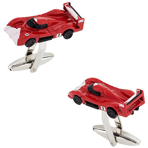 Cuff-Daddy Ferrari Race Car Inspired Cufflinks