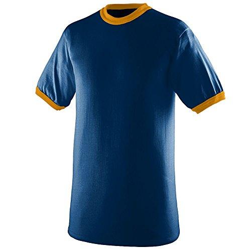 Augusta Sportswear Boys' Ringer T-Shirt L Navy/Gold