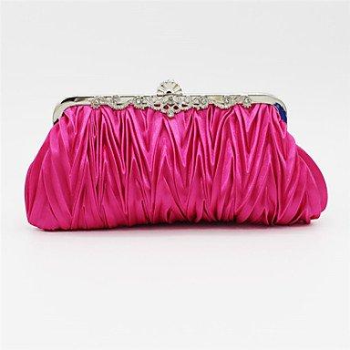 noir rose mariage soirée de bleu de Party Beige Watermelon argent Pink événement sac violet Satin or femmes Swqnf066z